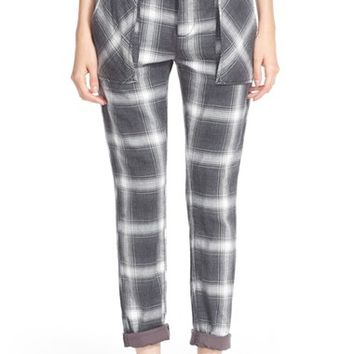 Women's Free People Relaxed Plaid Utility Pants,