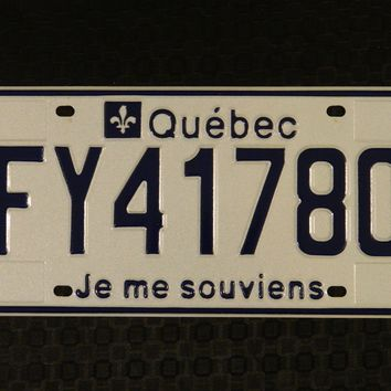 2001 Canada Quebec Commercial License Plate FY41780
