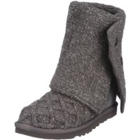 Amazon.com: Ugg Women's Lattice Cardy Casual Charcoal Man-Made Boot 7.0: Shoes