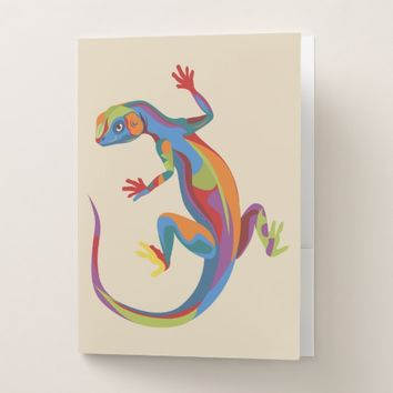 Painted Lizard Pocket Folder