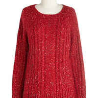 ModCloth Mid-length Long Sleeve Carol of the Belles Sweater