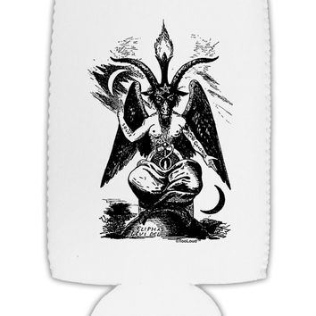 Baphomet Illustration Collapsible Neoprene Tall Can Insulator by TooLoud