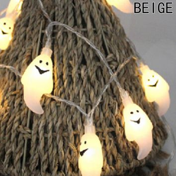 10 LED 1.8M Halloween Decor Pumpkins/Ghost/Spider/Skull LED String Lights Lanterns Lamp For DIY Home Bar Outdoor Party Supplies