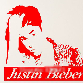 Justin Bieber Celebrity Silhouette Wall Art Stickers Decal Home