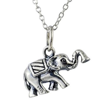 S925 sterling silver, Elephant Pendant  USA Silver Necklace