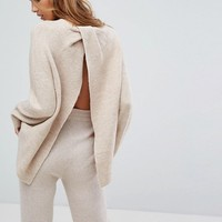 Micha Lounge Wrap Back Sweater at asos.com