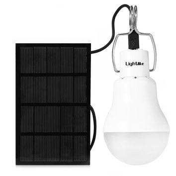 Outdoor Camping Light S 1200 130LM Portable Led Bulb Light Charged Solar Energy Lamp Portable Lanterns Ball Bulbs White