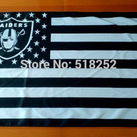 Oakland Raiders US flag with star and stripe 3x5 FT Banner 100D Polyester NFL flag 1150, free shipping