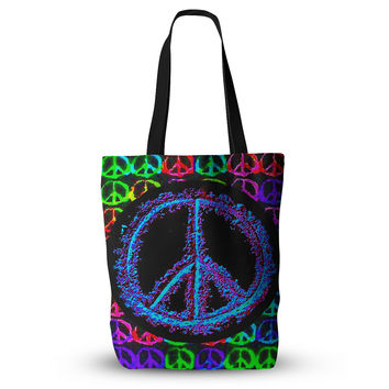 "Anne LaBrie ""Heavenly Peace"" Blue Digital Everything Tote Bag"