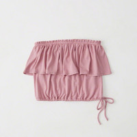 Womens Ruffle Tube Top | Womens New Arrivals | Abercrombie.com