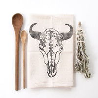Buffalo Tea Towel in black