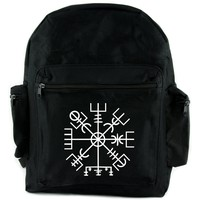 Vegvisir Viking Compass Symbol Backpack School Bag Viking Old Norse