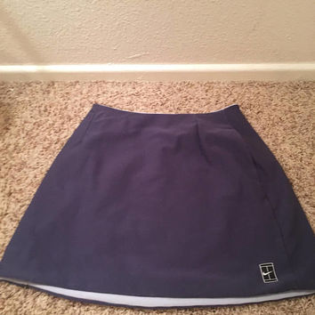 90s Nike Tight Tennis Skirt Reversible Light Blue Dark Blue Retro workout