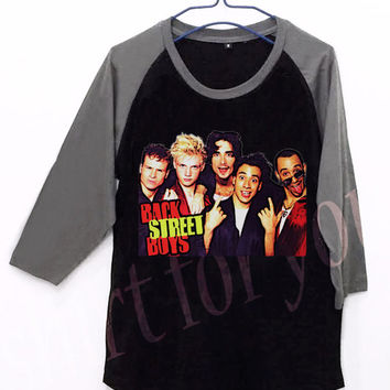 Backstreet Boys V1 Unisex Men Women Black Long Sleeve Baseball Shirt Tshirt Jersey
