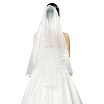 Beautiful Fashion Lady 1.5M Wedding Bridal Veil white Mantilla = 1932540036