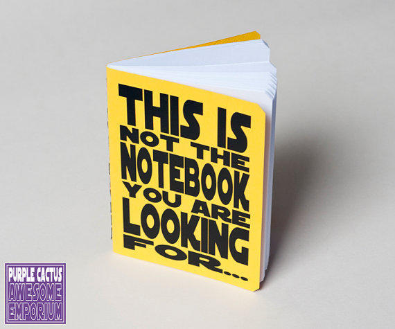 Star Wars notebook yellow - Not the notebook you are looking for - Typography Journal