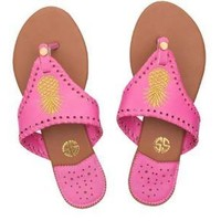 "Simply Southern ""Gold Pineapple"" Sandals"