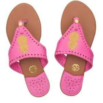 """Simply Southern """"Gold Pineapple"""" Sandals"""
