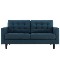 Fine Fabric Upholstered Loveseat