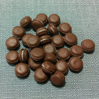 20 Miniature Brown Macaroons Clay Polymer Cookies Cakes Biscuits Cute Little Tiny Small Dollhouse Bakery Supplies Decoration Food Jewelry
