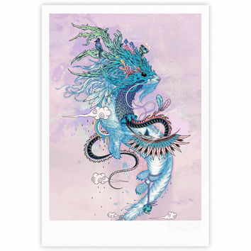 "Mat Miller ""Journeying Spirit (Ermine)"" Magenta Fantasy Fine Art Gallery Print"