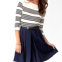 Essential Striped Rib Knit Top