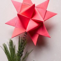 Origami Star Tree Topper by Anthropologie