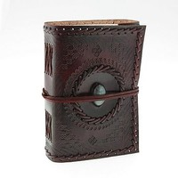 Indra Medium Stoned Leather Journal