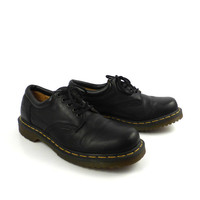 Doc Martens Oxfords Vintage 1990 Black Leather Oxfords Shoes UK size 10
