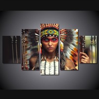 Abstract Indian girl print wall pictures for living room