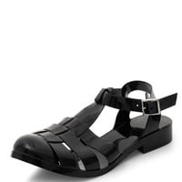 Black Caged Jelly Shoes