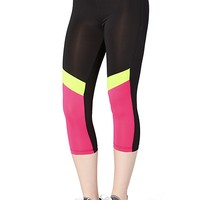 Neon Color Block Active Capri