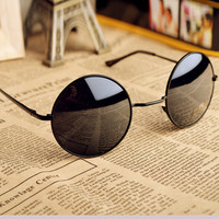 Thin Bar Round Sunglasses GHJ01