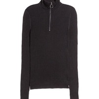 Ribbed Mock-turtleneck Sweater - from H&M