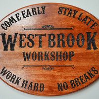"""""""Western"""" Family Name Sign - Fully Customizable"""