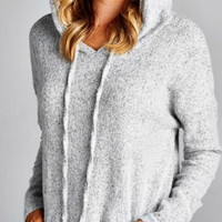 Soft and Cozy Hoodie - Heather Gray