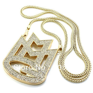 "ICED OUT MAYBACH MUSIC GROUP MMG PENDANT & 36"" FRANCO CHAIN"