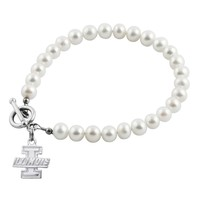 University of Illinois White Pearl Toggle Bracelet