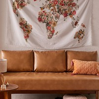 Botanical Floral Map Tapestry   Urban Outfitters