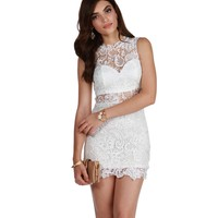 Promo- White Like No Other Lace Dress