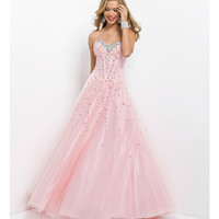 Pink by Blush 2014 Prom Dresses - Tea Rose Corset Sequin Prom Gown