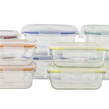24-Piece Glass Storage Containers with Lids - CASE OF 2