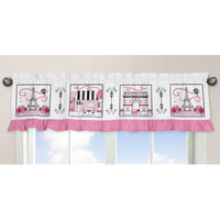 "Sweet Jojo Designs Paris 54"" Curtain Valance"