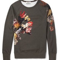 Acne Studios - College Printed Loopback Cotton-Jersey Sweatshirt | MR PORTER