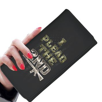 'I Plead the 2nd' (Amendment) Women's Clutch Purse Wallet