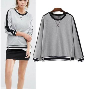 Patchwork Summer Sports Stylish Pullover Women's Fashion Hoodies [28269084698]