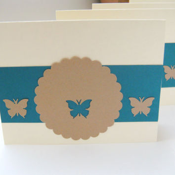 Blank All Occasion Butterfly Note Card Set of 4