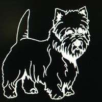 Dog Breed Westie West Highland White Terrier Vinyl Decal Sticker Custom Vehicle Auto Decal