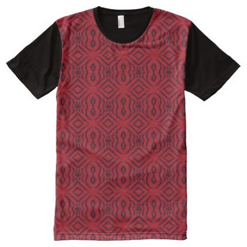Red Animal Pattern#14b American Apparel Buy Online All-Over-Print T-Shirt