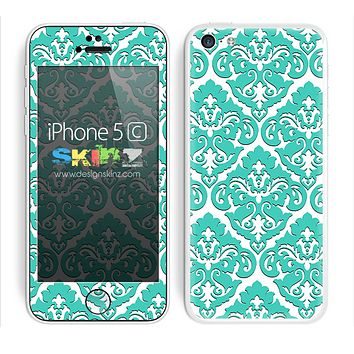 Mirrored V2 Mint and White Skin For The iPhone 5c